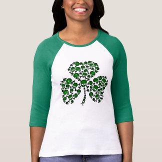 Green Shamrock Skulls T-shirts
