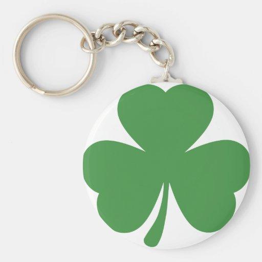 green shamrock st. patrick´s day basic round button key ring