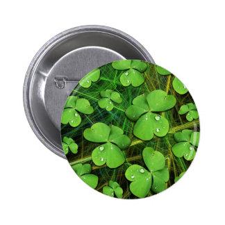 Green Shamrock St Patrick s Day Button