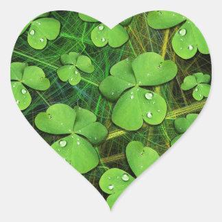 Green Shamrock St Patrick s Day Sticker