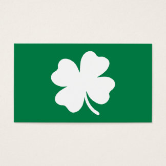 Green Shamrock  St Patricks Day Ireland Business Card