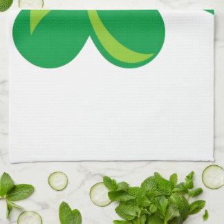 Green Shamrock Tea Towel