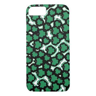 Green shamrocks iPhone 7 case