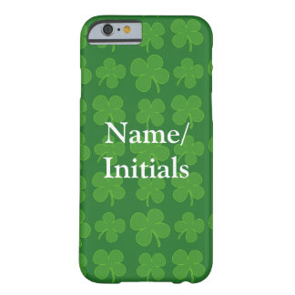Green Shamrocks, Irish Clover Pattern Barely There iPhone 6 Case