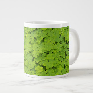 Green Shamrocks Large Coffee Mug