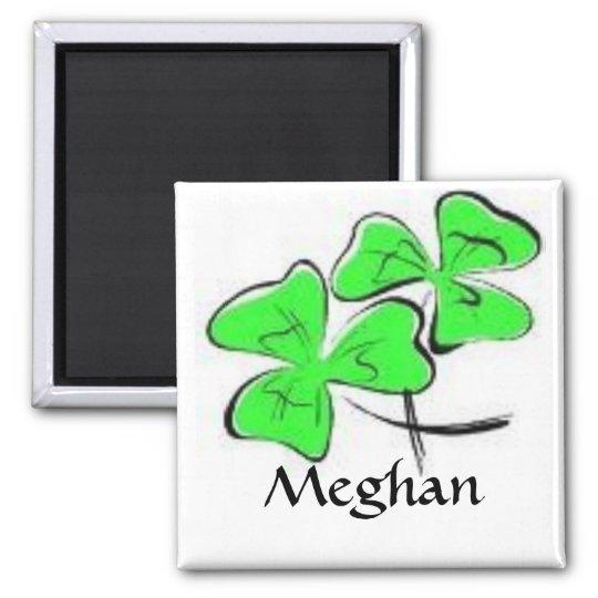 Green Shamrocks Magnet personalised