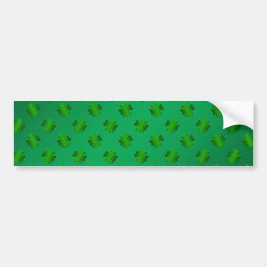 Green shamrock's on green background bumper sticker