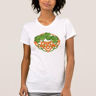 Green Shamrocks & Orange Basket St Pat's Day Shirt