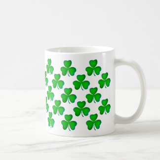 Green shamrocks Pattern Coffee Mug