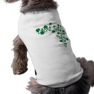 Green shamrocks shirt