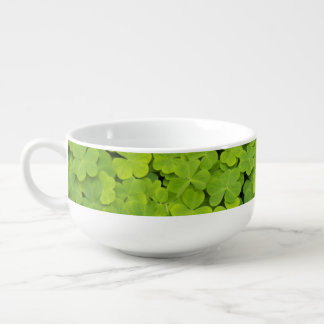 Green Shamrocks Soup Mug