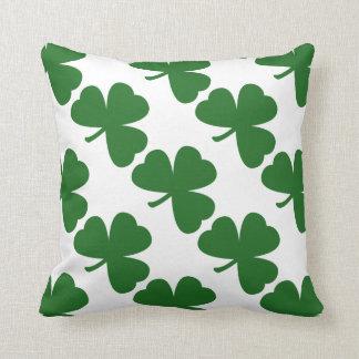 Green Shamrocks St. Patrick's Day Cushion