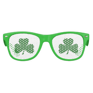 Green Shamrocks St. Patrick's Day Kids Sunglasses