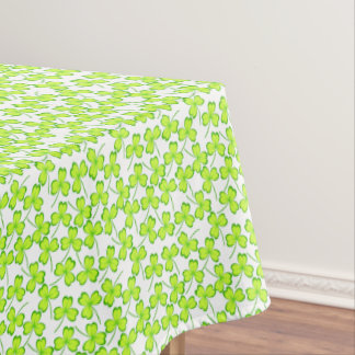 Green Shamrocks St. Patrick's Day Tableclo Tablecloth