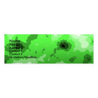 Green sharp edge skinny business card.
