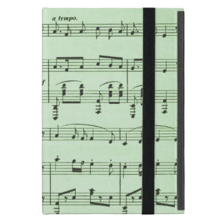 Green Sheet Music Cover For iPad Mini