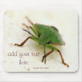 Green Sheild bug Mousepad