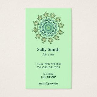 Green Shell Kaleidoscope Business Card
