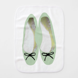 Green Shoes Burp Cloth