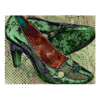 green shoes postcard