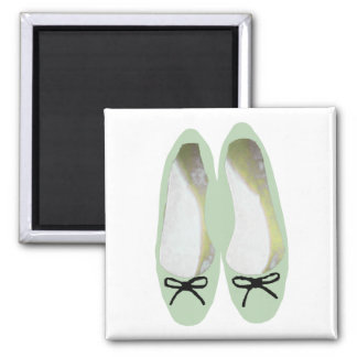 Green Shoes Square Magnet