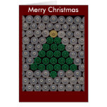 Green shotgun shell tree Christmas Card