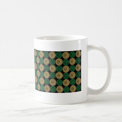 green shotgun shells basic white mug