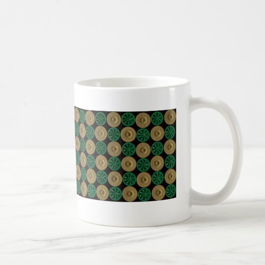 green shotgun shells coffee mug