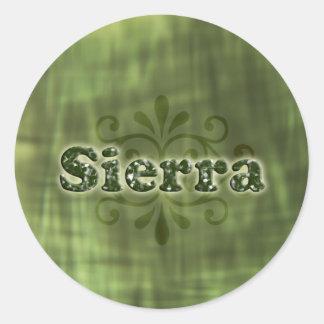 Green Sierra Round Sticker