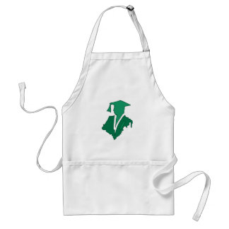 Green Sihlouette Aprons