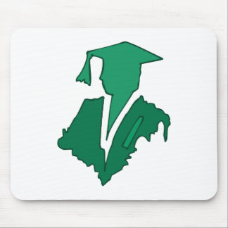 Green Sihlouette Mouse Pad