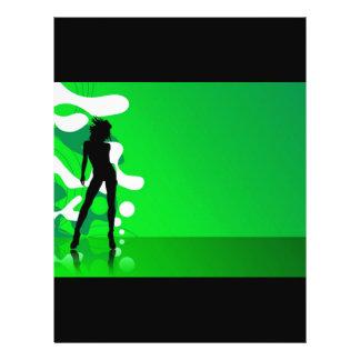 Green silhouette custom flyer