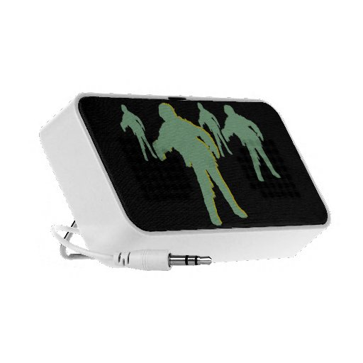 Green Silhouette Zombies Speaker System