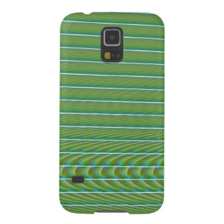 Green Simple Fractal Lines with Ripples Galaxy Nexus Cases