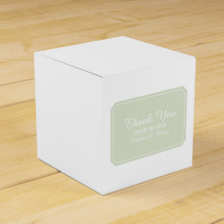 Green Simply Elegant Favor Boxes