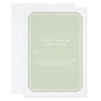 Green Simply Elegant Response Card