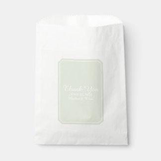 Green Simply Elegant Wedding Favour Bags
