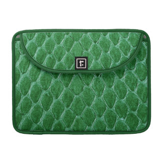 Green Simulated Snake Skin Sleeve For MacBook Pro