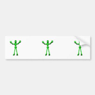 Green Skeleton Bumper Sticker