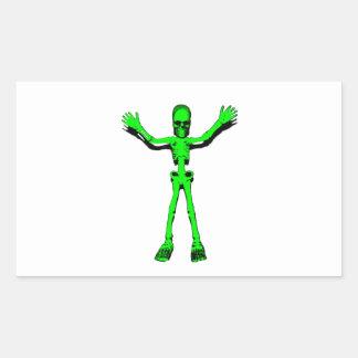 Green Skeleton Rectangle Sticker