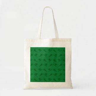 Green ski pattern bag