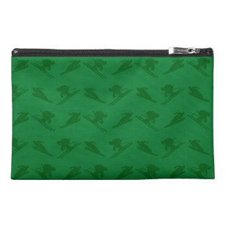 Green ski pattern travel accessories bags