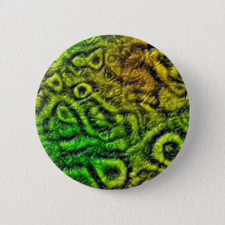 Green skin texture 6 cm round badge