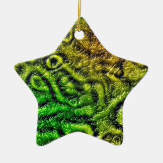 Green skin texture ceramic star decoration