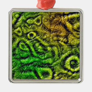 Green skin texture christmas ornament