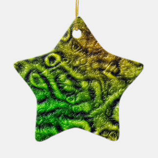 Green skin texture christmas ornament