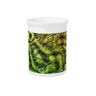 Green skin texture pitcher