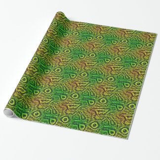 Green skin texture wrapping paper