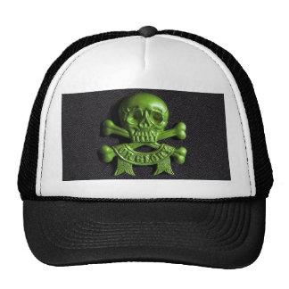 Green Skull and Cross bones Cap