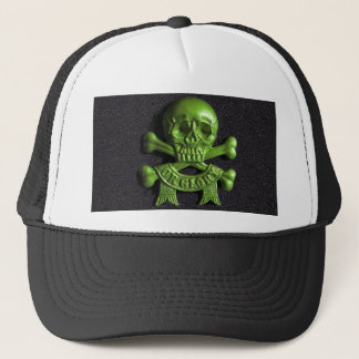 Green Skull and Cross bones Trucker Hat